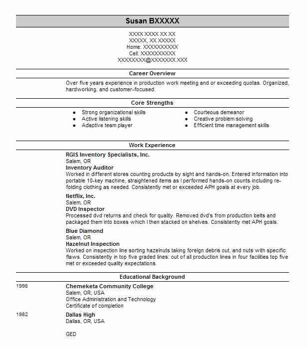 inventory auditor resume example resumes livecareer extracurricular activities examples Resume Inventory Auditor Resume
