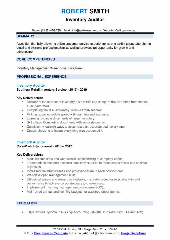 inventory auditor resume samples qwikresume pdf common computer skills for outstanding Resume Inventory Auditor Resume