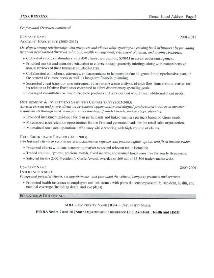 investment advisor resume computer programmer sample format with project details entry Resume Investment Advisor Resume