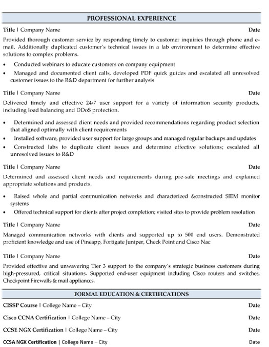 it manager resume sample template checkpoint firewall systems network administration Resume Checkpoint Firewall Resume
