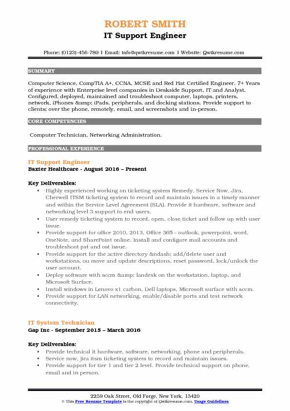 it support engineer resume samples qwikresume computer hardware and networking pdf Resume Computer Hardware And Networking Engineer Resume