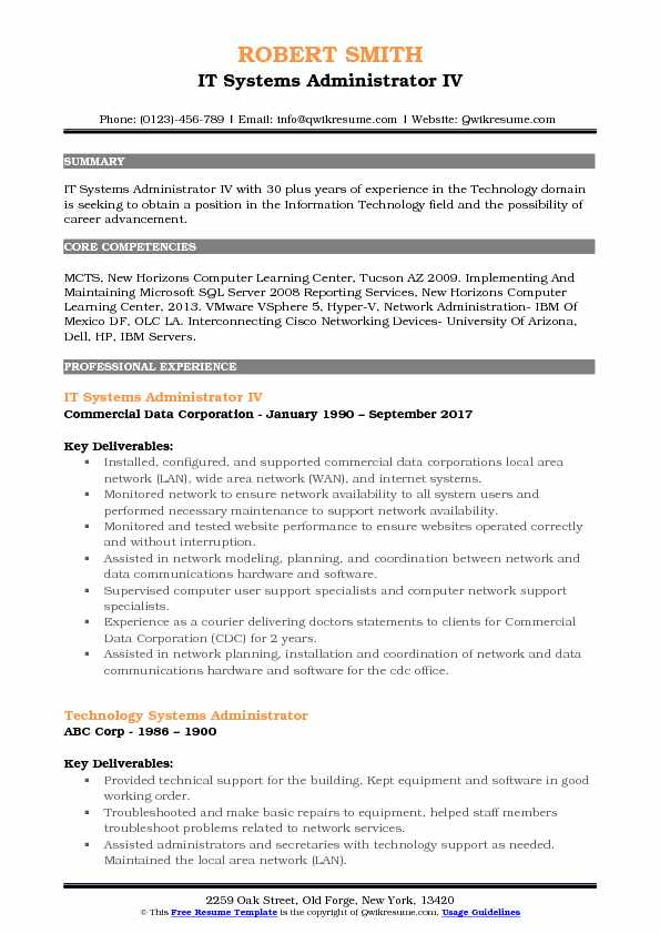 it systems administrator resume samples qwikresume vmware responsibilities pdf on Resume Vmware Administrator Resume Responsibilities