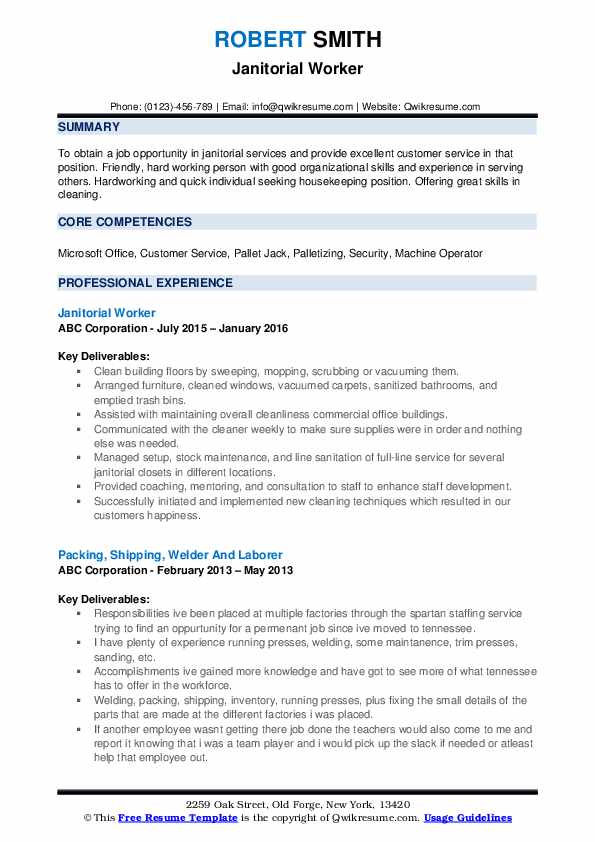 janitor resume samples qwikresume objective for janitorial position pdf advice from Resume Resume Objective For Janitorial Position