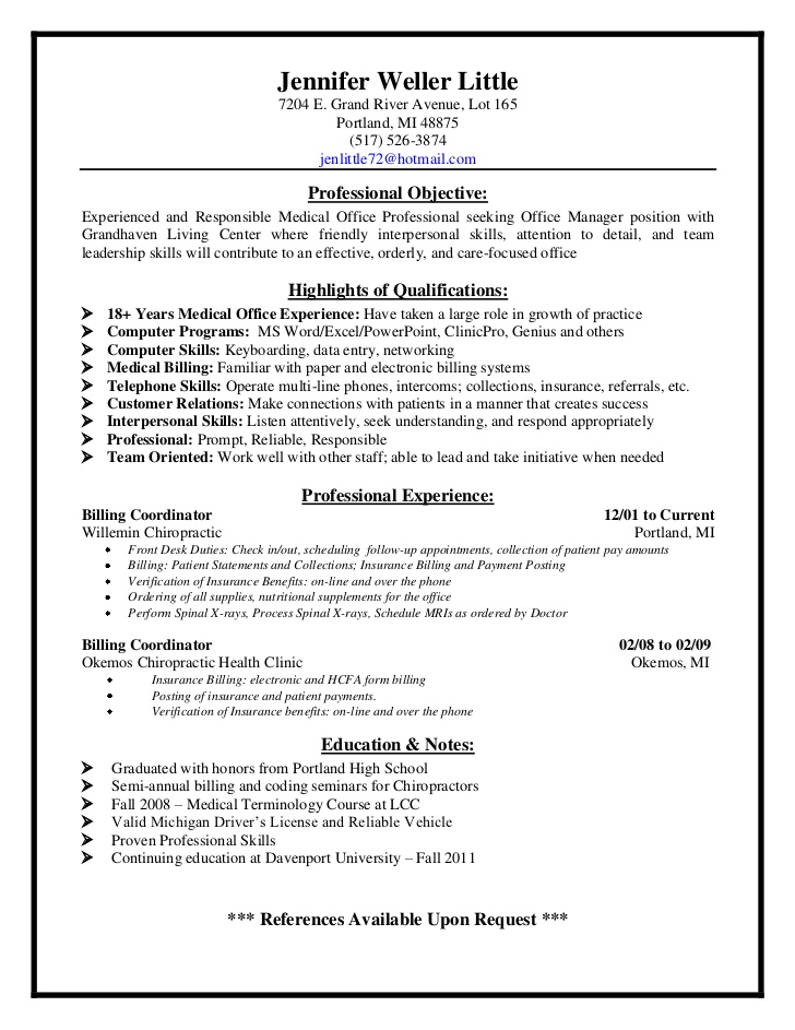 jen resume medical billing and collections specialist jens electrical engineering student Resume Medical Billing And Collections Specialist Resume