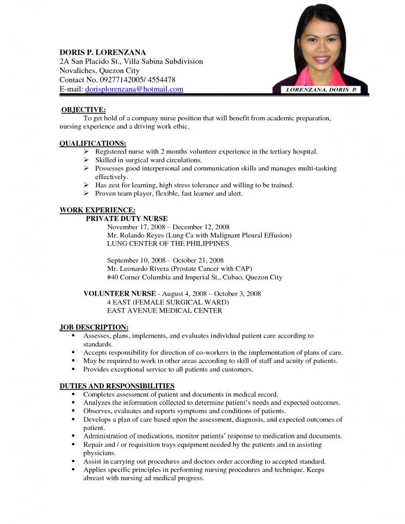 job resume samples examples sample format nursing template application and teacher middle Resume Application And Resume Sample
