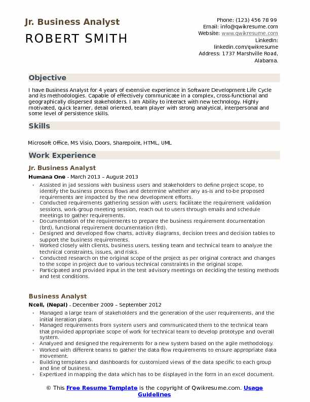 jr business analyst resume samples qwikresume format for fresher pdf special education Resume Resume Format For Business Analyst Fresher