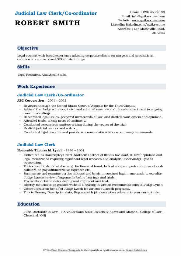 judicial law clerk resume samples qwikresume sample pdf informatica field technician Resume Judicial Law Clerk Resume Sample