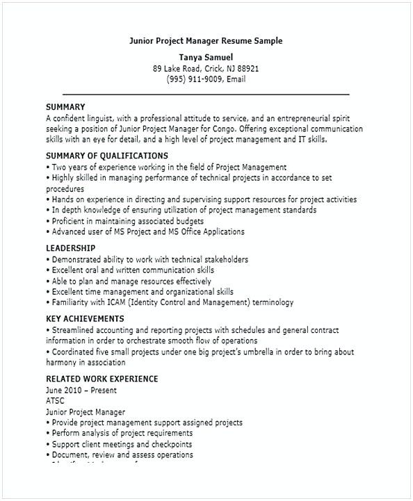 junior project manager resume for position many of us interested in being job samples Resume Sample Resume For Management Position