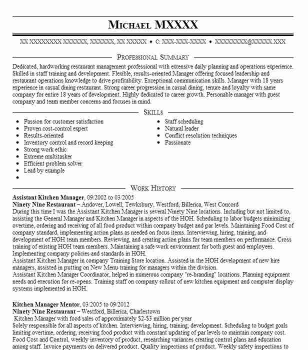 kitchen manager resume examples best summary rn sample school funeral director certified Resume Kitchen Manager Resume Summary
