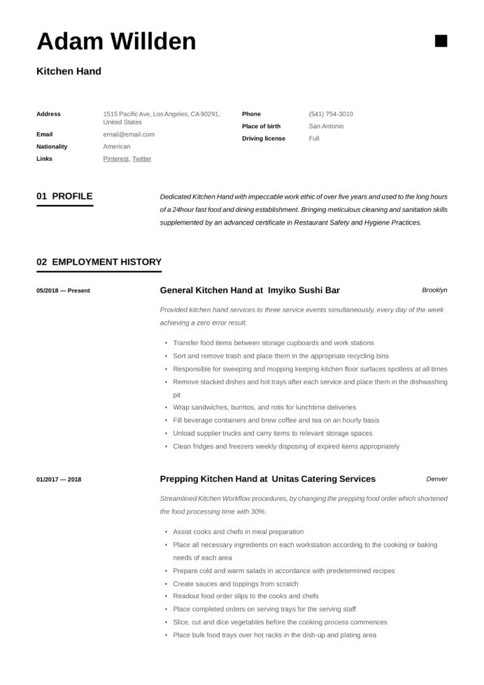 kitchen resume writing guide free templates staff job description for balanced scorecard Resume Kitchen Staff Job Description For Resume