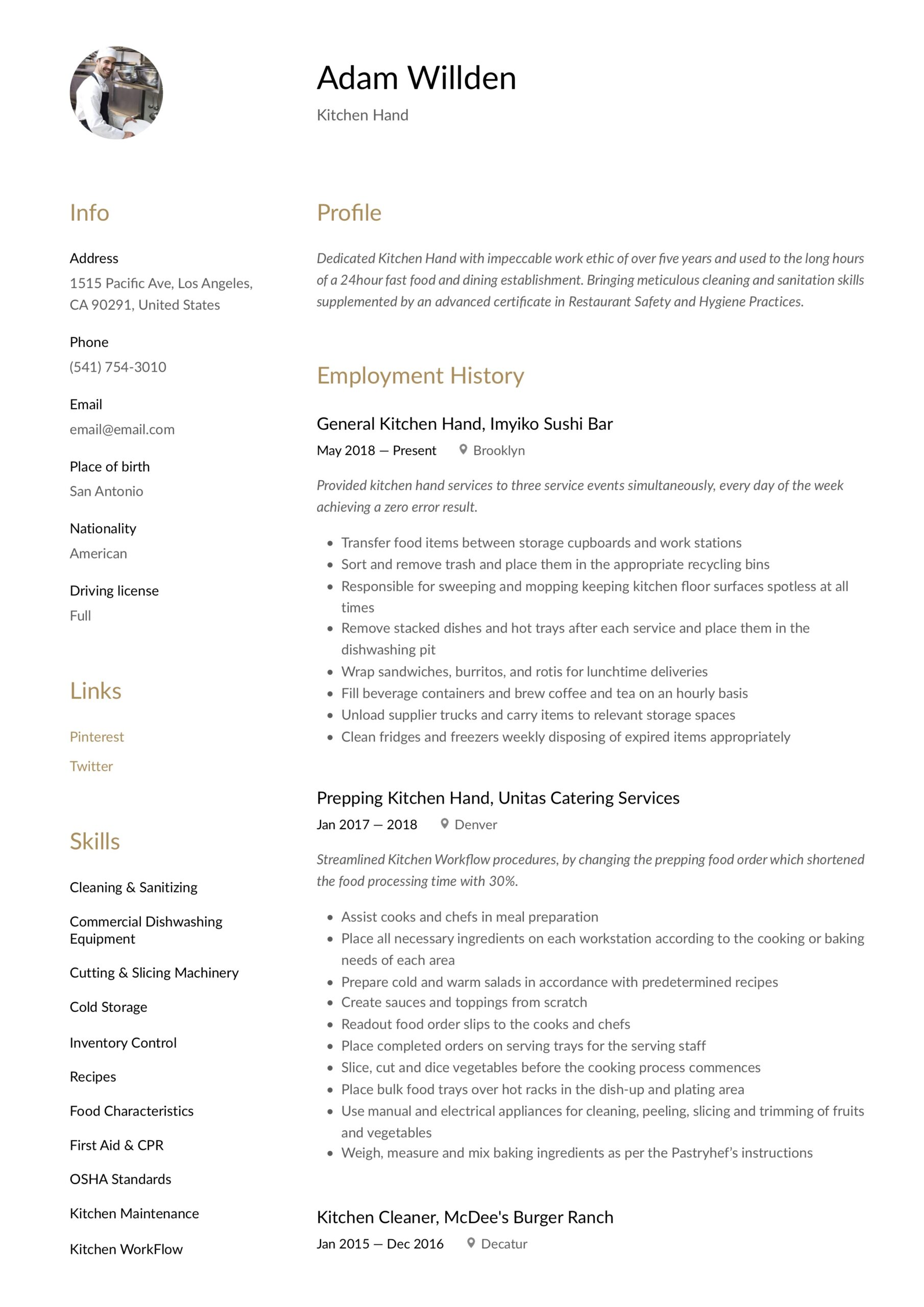 kitchen resume writing guide free templates staff job description for graduate business Resume Kitchen Staff Job Description For Resume