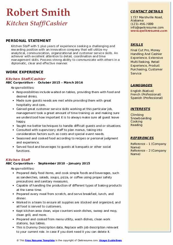 kitchen staff resume samples qwikresume job description for pdf administrative assistant Resume Kitchen Staff Job Description For Resume