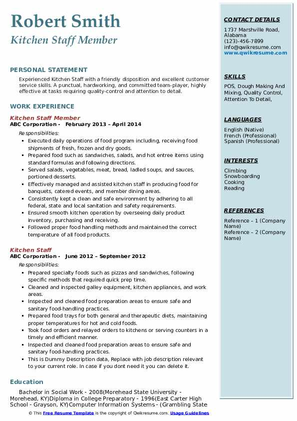 kitchen staff resume samples qwikresume job description for pdf usajobs making the Resume Kitchen Staff Job Description For Resume