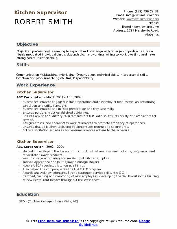 kitchen supervisor resume samples qwikresume manager summary pdf funeral director campus Resume Kitchen Manager Resume Summary