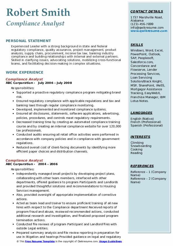 kyc analyst resume example best examples sample for aml compliance pdf work summary Resume Sample Resume For Aml Kyc Analyst