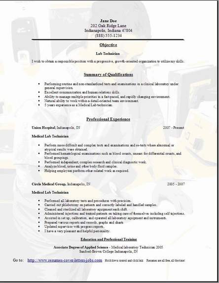 lab technician resume occupational examples samples free edit with word clinical sample Resume Clinical Lab Technician Resume Sample