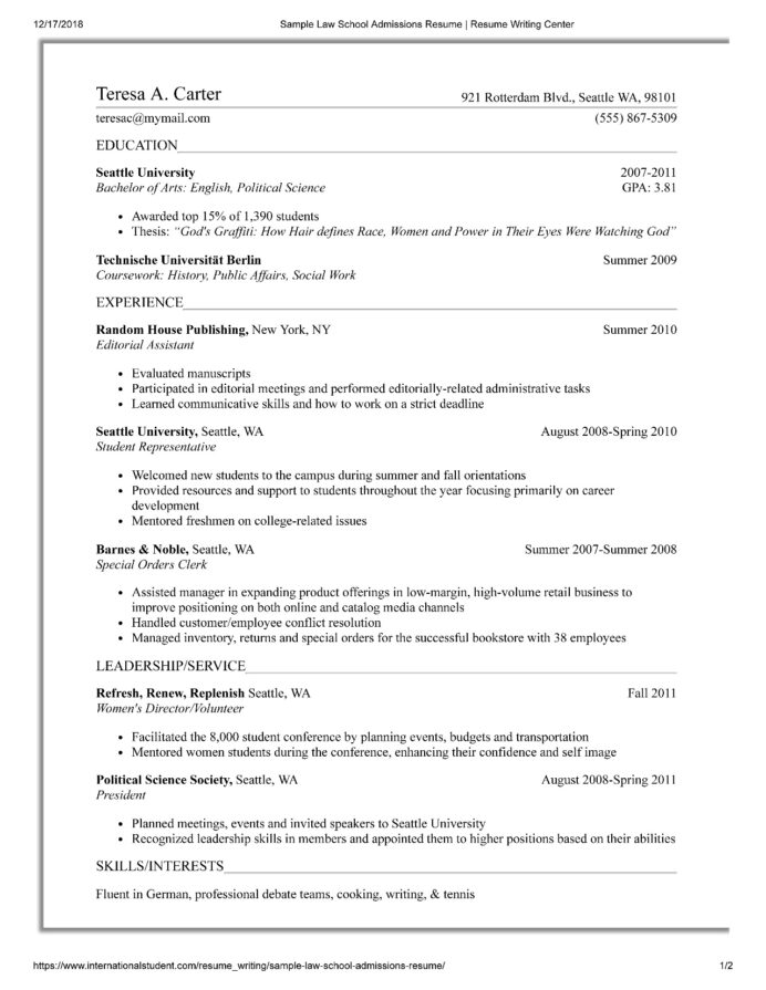 law school resume templates prepping your for of university at candidate usc med surg Resume Law School Candidate Resume