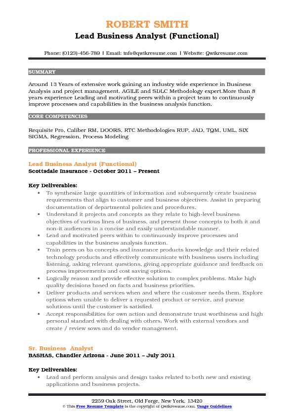 lead business analyst resume samples qwikresume senior objective pdf and cover letter Resume Senior Business Analyst Resume Objective