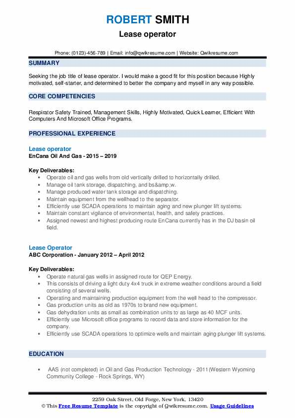 lease operator resume samples qwikresume objective for oil and gas pdf best teacher ever Resume Objective For Resume Oil And Gas