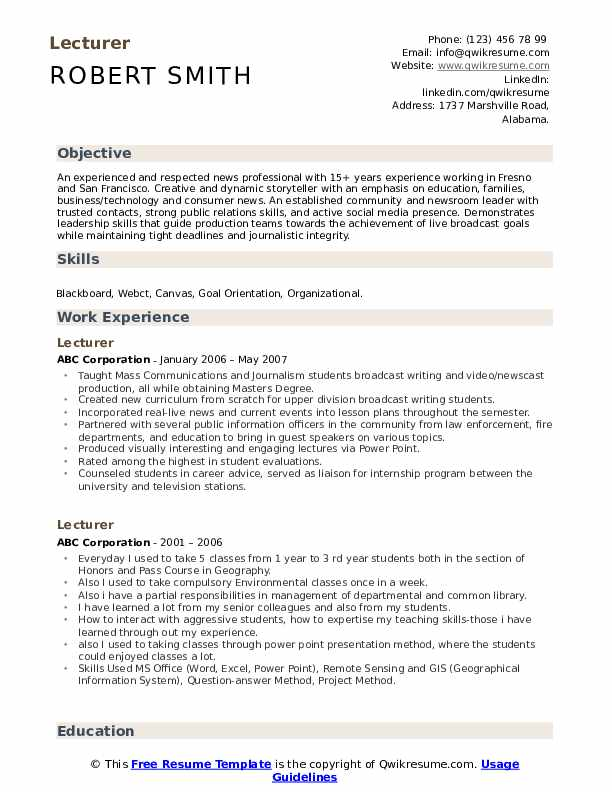 lecturer resume samples qwikresume english pdf appropriate email address for heb Resume English Lecturer Resume