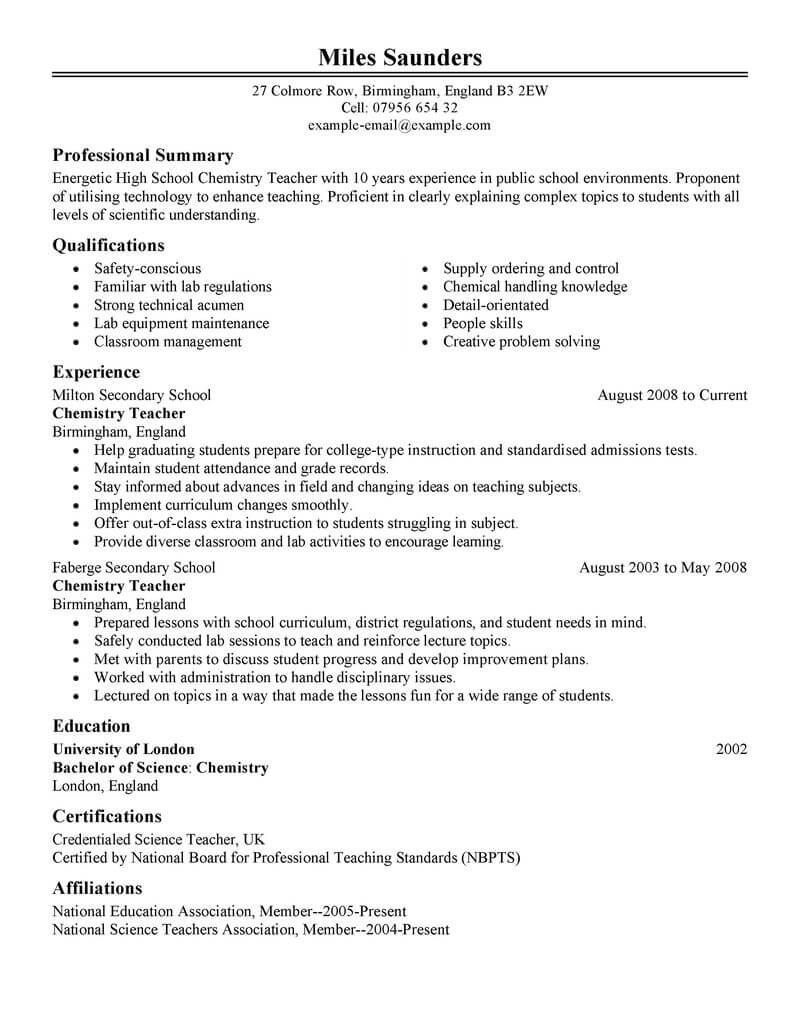 lecturer resume template for microsoft word livecareer format post education classic Resume Resume Format For Lecturer Post