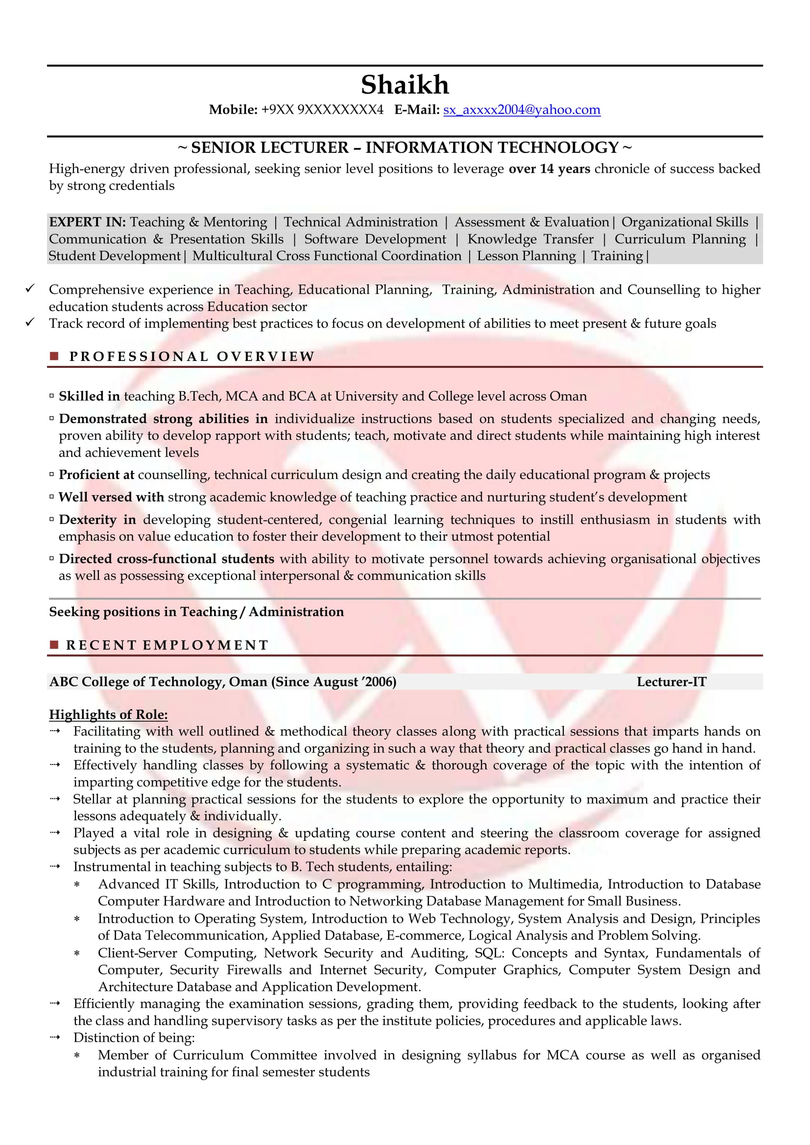 lecturer sample resumes resume format templates for post trms free template builder Resume Resume Format For Lecturer Post