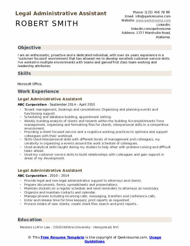 legal administrative assistant resume samples qwikresume title pdf craft contoh jobstreet Resume Administrative Assistant Resume Title