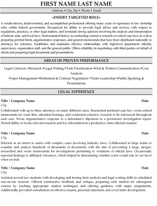 legal clerk resume sample template judicial law substitute teacher free format examples Resume Judicial Law Clerk Resume Sample