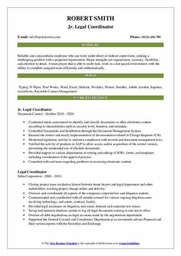 legal coordinator resume samples qwikresume pdf sap fico with years experience bottle Resume Legal Coordinator Resume