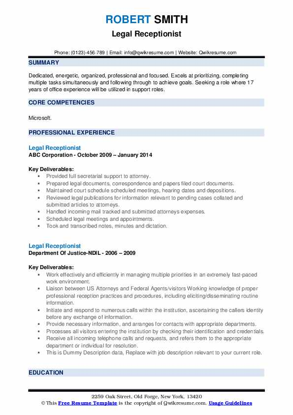 legal receptionist resume samples qwikresume law firm duties pdf amazing labor and Resume Law Firm Receptionist Duties Resume