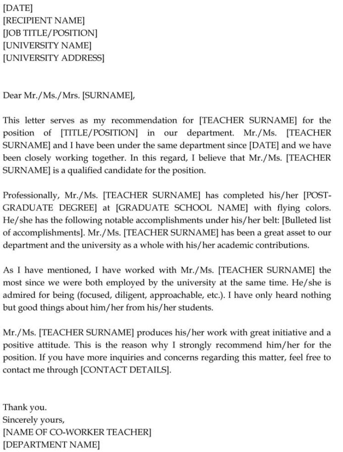 letter of recommendation for co worker sample letters examples resume template amazing Resume Recommendation Letter Resume Template