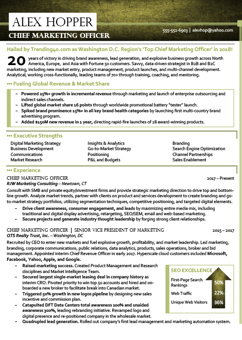 level executive resume samples chief marketing officer digital best and professional Resume Chief Digital Officer Resume
