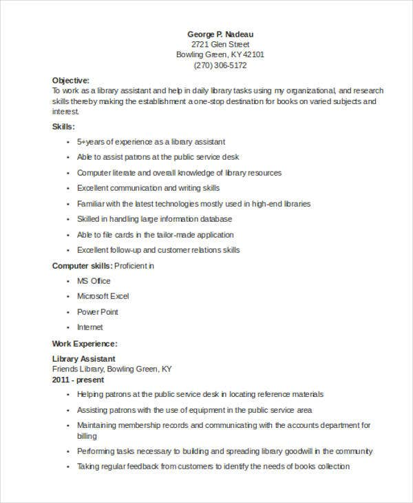 librarian resume templates free sample example format premium for assistant optimal sjvc Resume Resume Sample For Librarian