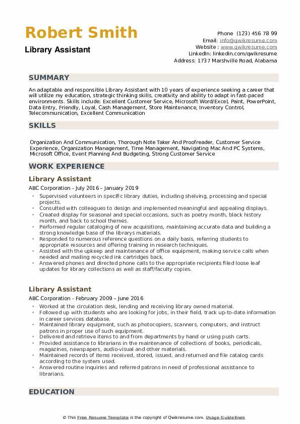 library assistant resume samples qwikresume librarian examples pdf executive sample for Resume Librarian Resume Examples