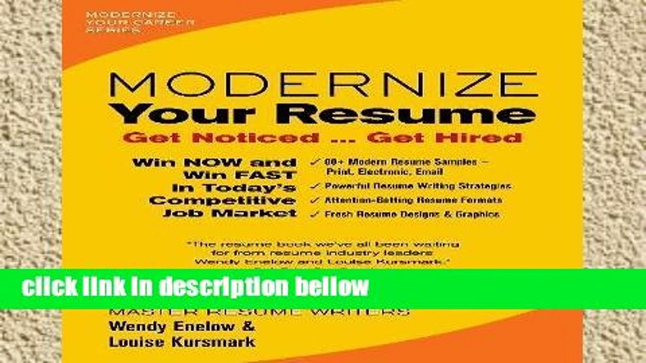 library modernize your resume career dailymotion get noticed hired template business Resume Modernize Your Resume Get Noticed Get Hired