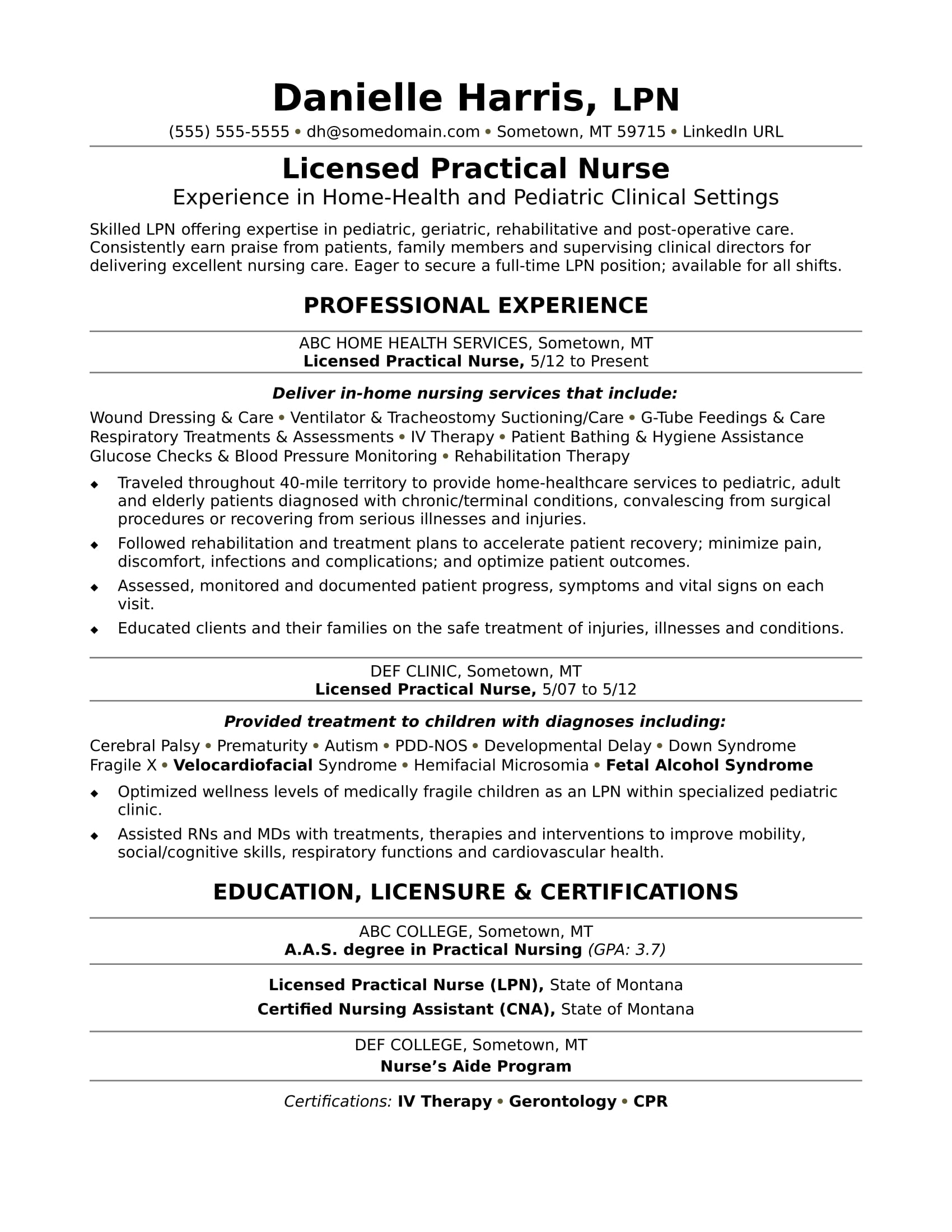 licensed practical nurse resume sample monster home health aide business intelligence Resume Home Health Aide Resume