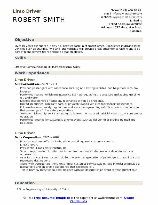 limo driver resume samples qwikresume limousine chauffeur pdf affordable housing property Resume Limousine Chauffeur Resume