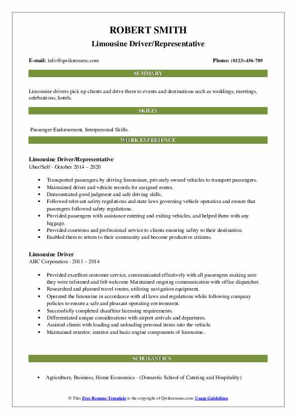 limousine driver resume samples qwikresume chauffeur pdf icu rn sample template muse Resume Limousine Chauffeur Resume