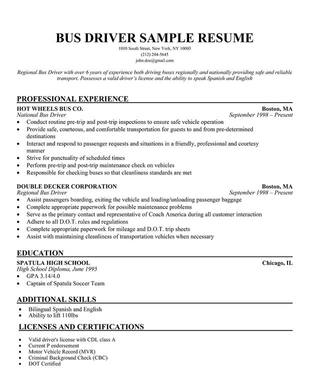 limousine driver resume taxi sample good examples school bus job hopper template audition Resume School Bus Driver Resume