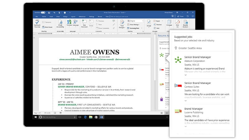 linkedin powered resume assistant for office now available to all technology news Resume Office 365 Resume Assistant