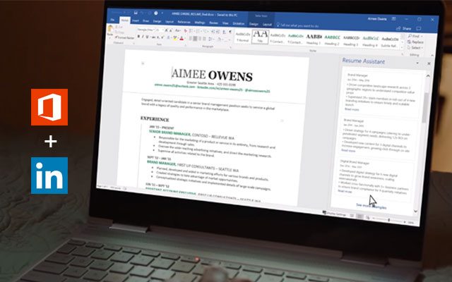 linkedin resume assistant released for the office subscribers on windows instrumentation Resume Office 365 Resume Assistant
