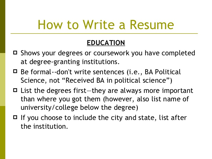 listing degrees on resume writing an eye catching maintenance description for building Resume Listing Degrees On Resume