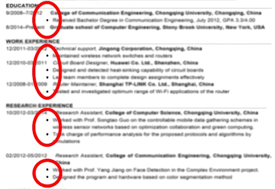 lists bullet points the rule of three resume tip josrow job format for computer Resume Resume Job Bullet Points