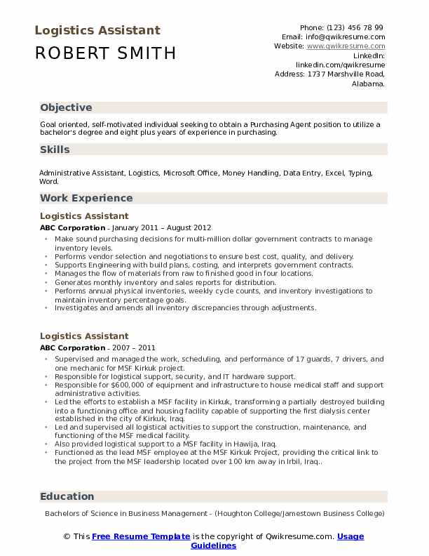 logistics assistant resume samples qwikresume for freshers pdf format classical dance Resume Logistics Resume For Freshers
