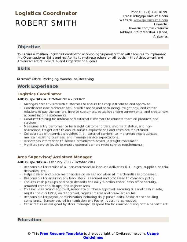 logistics coordinator resume samples qwikresume examples pdf talent acquisition social Resume Logistics Resume Examples