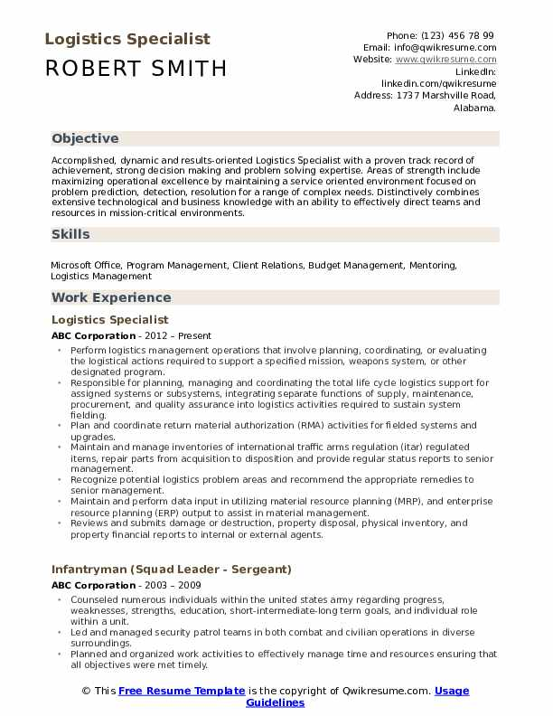 logistics specialist resume samples qwikresume examples pdf electrical automation Resume Logistics Resume Examples