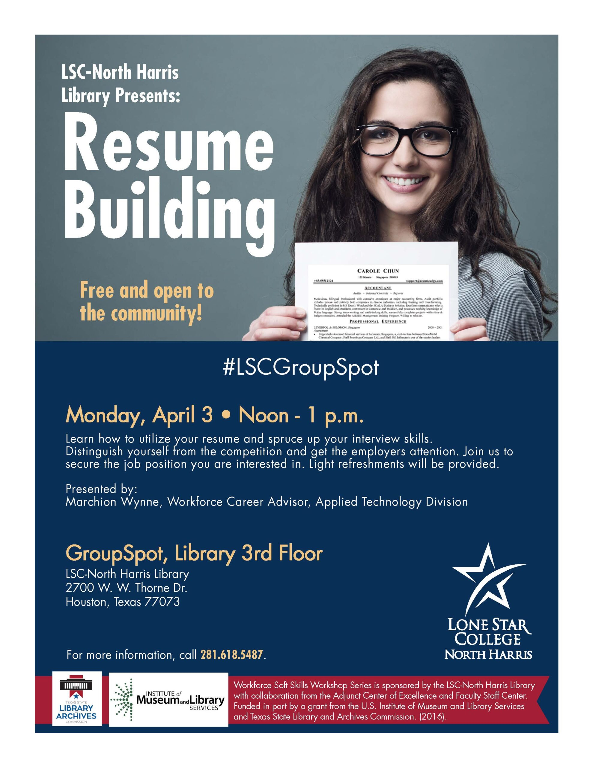 lsc north resume building free workshop customer service administrative assistant workday Resume Resume Building Workshop
