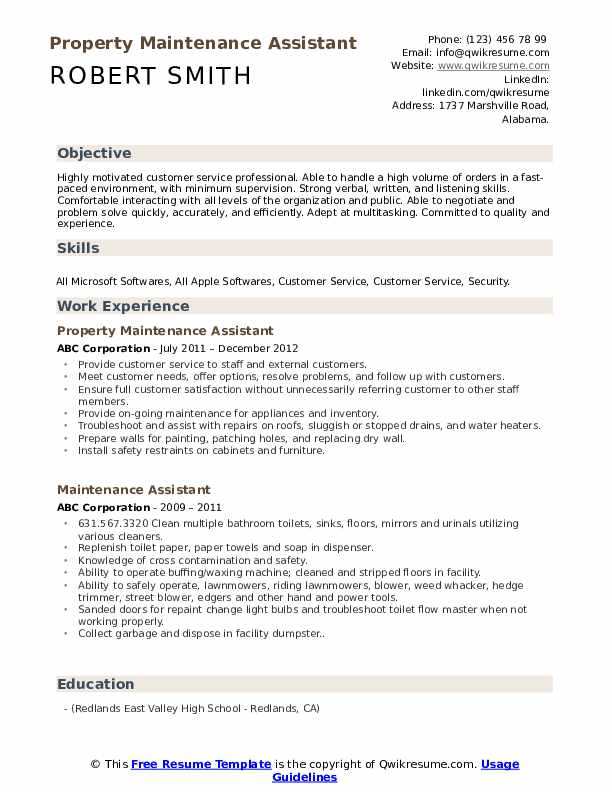 maintenance assistant resume samples qwikresume general examples pdf music therapy Resume General Maintenance Resume Examples