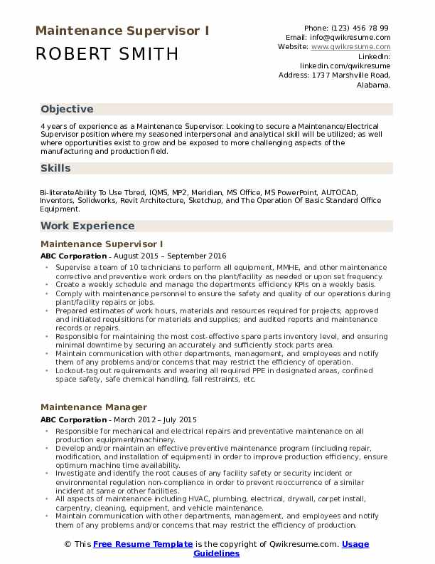 maintenance supervisor resume samples qwikresume mechanical sample pdf front desk Resume Mechanical Maintenance Supervisor Resume Sample