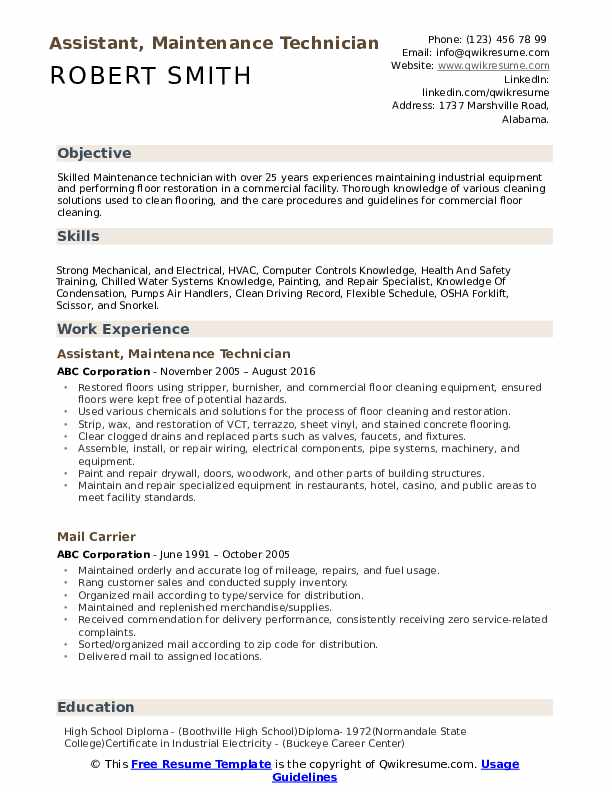 maintenance technician resume samples qwikresume examples for pdf writing your jr Resume Resume Examples For Maintenance Technician
